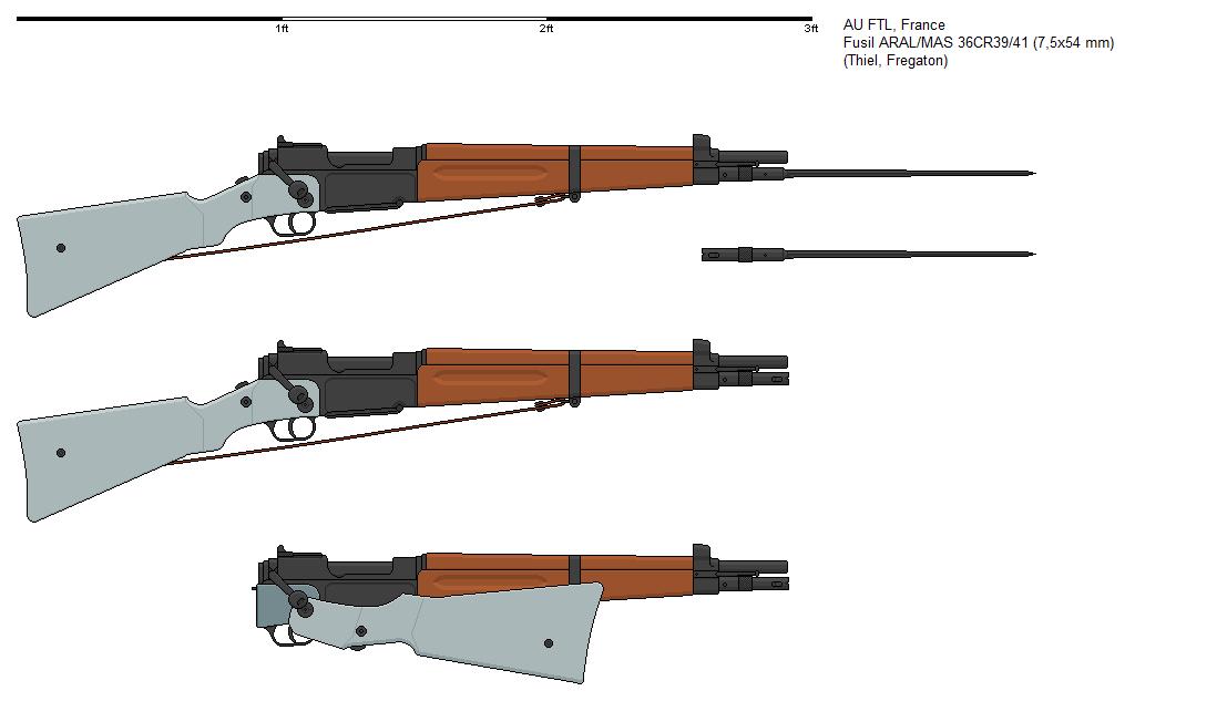 Fusil MAS 36 CR 39 FTL - Illustrations de la FTL